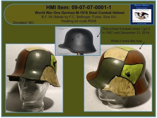 Our M-1916 German Helmet